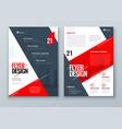 flyer design red modern background design