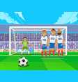 free kick game situation penalty shot with vector image
