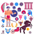 gladiator roman warrior greek character in vector image