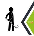 golf club design vector image vector image