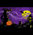 halloween haunted house background template vector image vector image