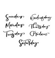 hand drawn decorative lettering days the vector image vector image