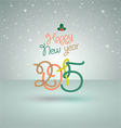 happy new year greeting card lettering 2015 vector image