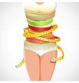 Healthy and Slimming Food vector image