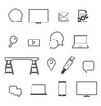 icon set technology vector image vector image