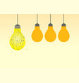 idea concept with circuit light bulb vector image vector image