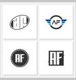 initial letter af logo template design vector image vector image