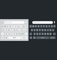 keyboard for smartphone alphabet on keypad vector image vector image