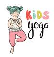 Kid yoga logo Gymnastics for children Healthy vector image