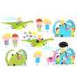 kids reading books dragon clip art collection vector image