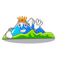 king mountain cartoon images are very beautiful vector image