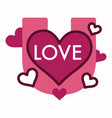 love hearts and magnet valentine day symbol vector image vector image