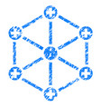 medical network grunge icon vector image vector image