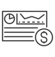 money cash graph icon outline style vector image