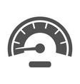 monochrome meter icon flat vector image