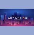 night city urban landscape simple design vector image