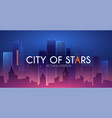 night city urban landscape simple design with vector image