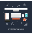 Office Routine Work vector image vector image