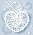 Openwork heart applique paper vector image vector image