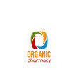 organic pharmacy badge vector image