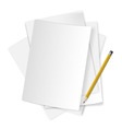 Paper and pencil 01 vector image vector image