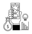people business investment vector image vector image