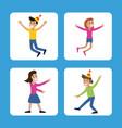 people funny party karaoke dance vector image vector image