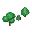 polygonal trees isometric tree set vector image