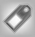 price tag sign pencil sketch imitation vector image vector image