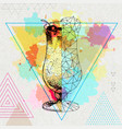 realistic and polygonal cocktail pina colada vector image vector image