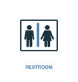 restroom icon monochrome style design from vector image