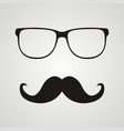retro hipster mustache and glasses symbol vector image vector image