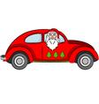 Santa Claus in Car vector image