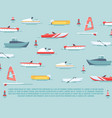 sea transport poster design - boats and ships vector image vector image