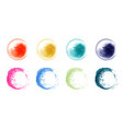 set hand drawn splash bright watercolor vector image vector image