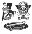 set street activities emblems labels vector image vector image