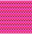 simple valentines day heart background pattern vector image vector image