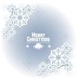 Snowflake icon Merry Christmas design vector image