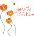 The Bees Knees vector image vector image