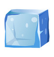 transparent ice cube with uneven edges isolated vector image vector image