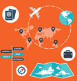 Traveling transporting planning a route tourism vector image