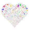 ufo symbols fireworks heart vector image vector image