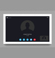 video call screen template user interface vector image vector image