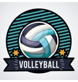 volleyball league design vector image vector image