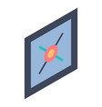 wall picture icon isometric style vector image