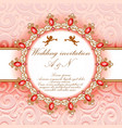 wedding invitation with gold ornaments and vector image vector image