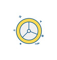 wheel icon design vector image vector image