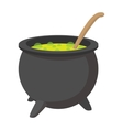 Witching vat cartoon icon vector image vector image