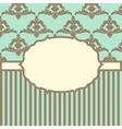 with baroque ornaments in Victorian style vector image vector image