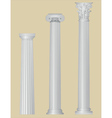 greek columns with details vector image